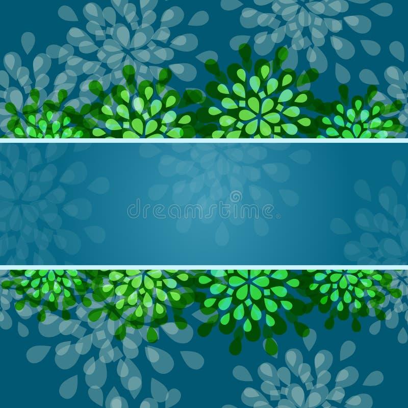 Cartão floral do convite com faixa ilustração do vetor