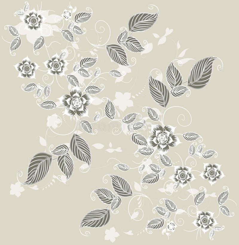 Cartão floral do cumprimento Pastel ilustração do vetor
