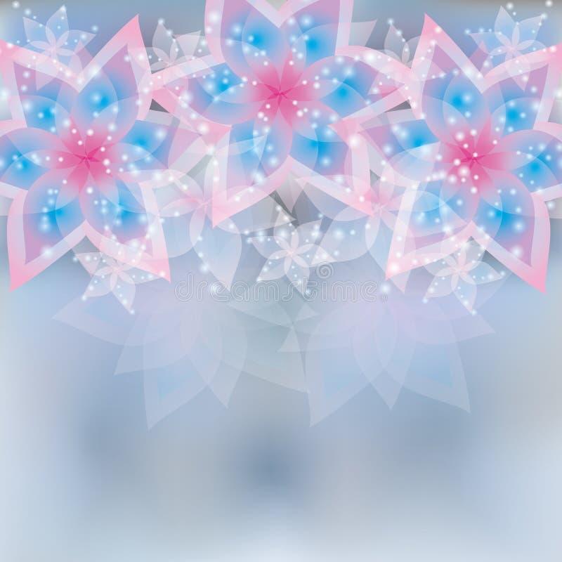 Cartão floral do fundo, do cumprimento ou do convite ilustração stock