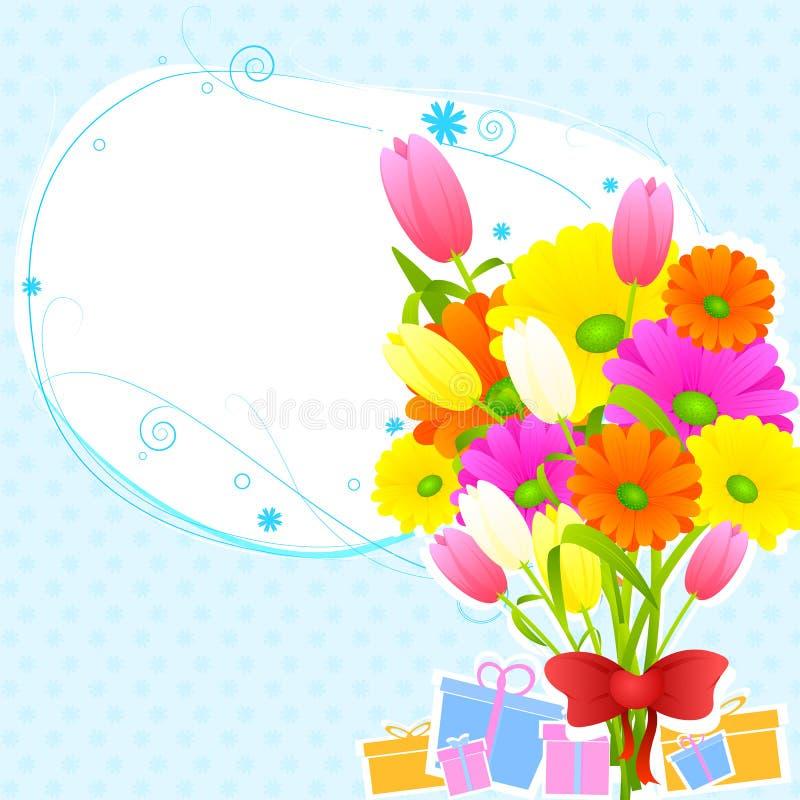 Cartão floral do vintage ilustração stock
