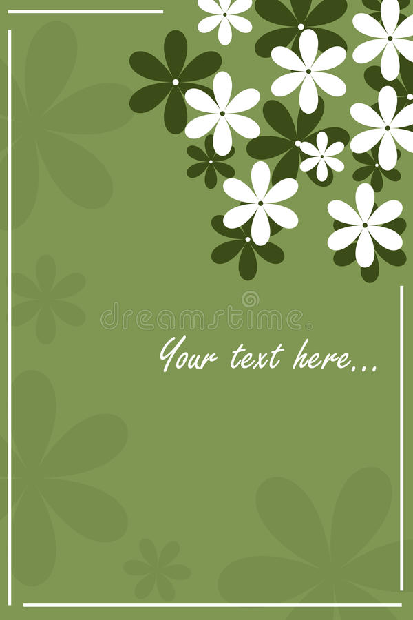 Cartão floral - verde ilustração do vetor