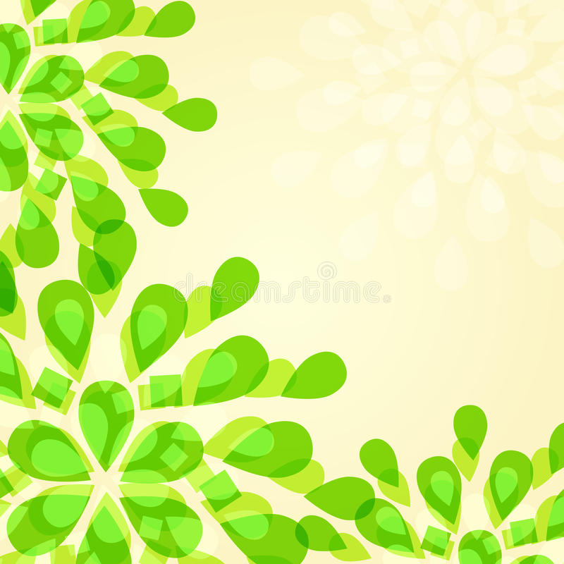 Cartão floral verde de Invintation ilustração stock