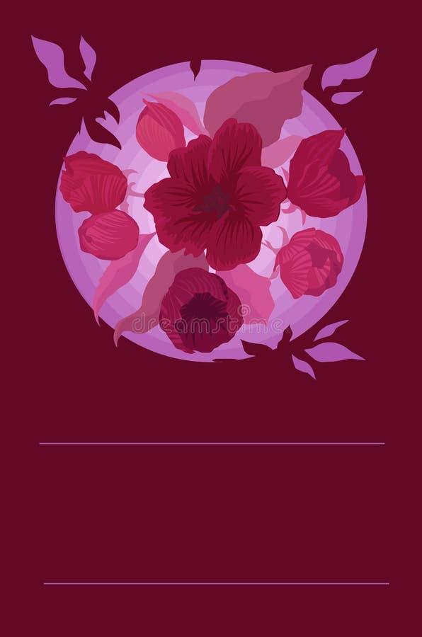 Cartão Flower2 da terra ilustração do vetor