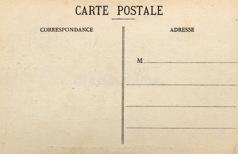 Cartão francês em branco fotografia de stock