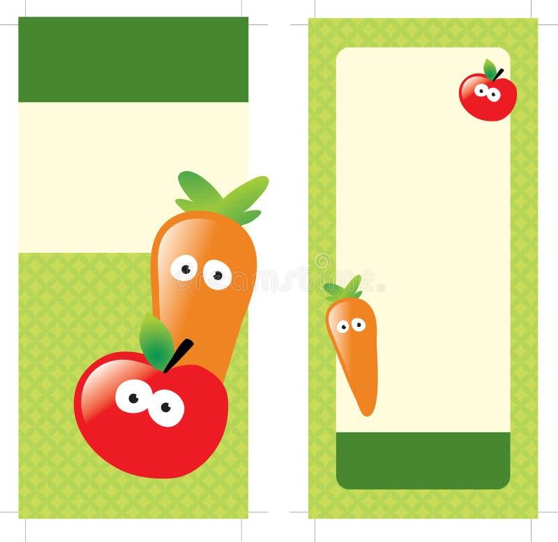 cartão frente e verso da cremalheira 4x9 ilustração royalty free