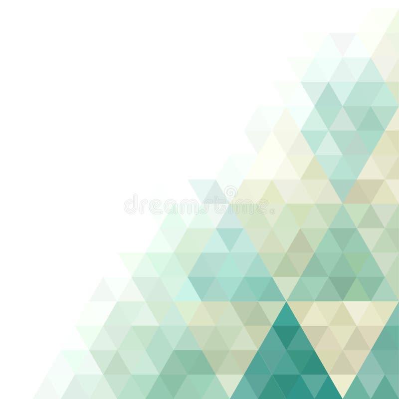 Cartão geométrico ilustração stock