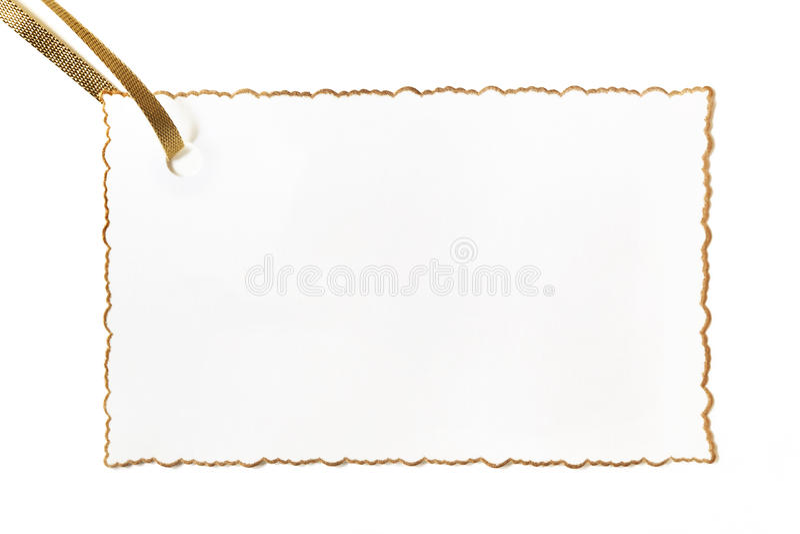 Cartão Gilt-edged em branco do presente fotos de stock