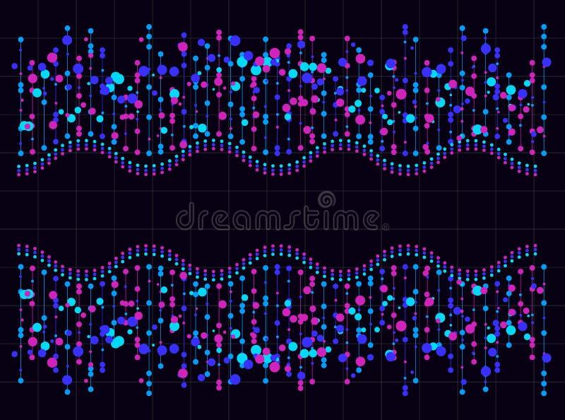 Cartão grande do fundo da tecnologia da informação dos dados Vetor ilustração royalty free