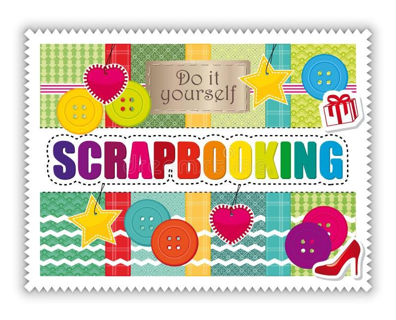 Cartão II das artes e dos ofícios de Scrapbooking ilustração royalty free