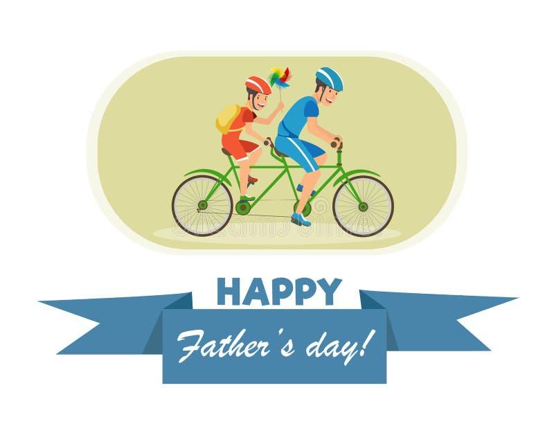 Cartão liso com dia de pais feliz da inscrição ilustração royalty free