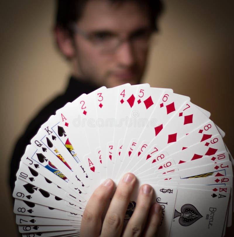 Cartão mágico fotos de stock