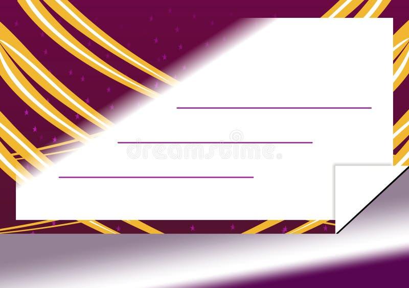 Cartão mágico do convite ilustração stock
