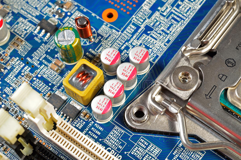 Cartão-matriz do material informático fotografia de stock royalty free