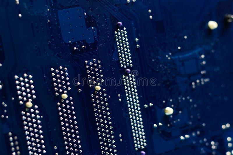 Cartão-matriz no verso profundidade de campo rasa, azul imagem de stock royalty free