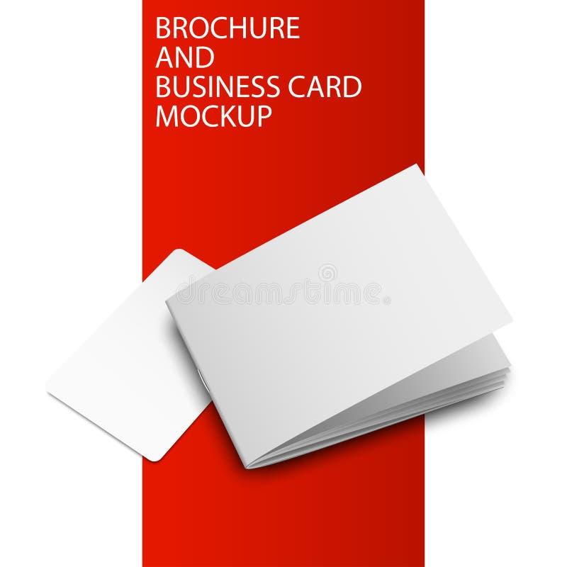 Cartão mockup-01 do folheto ilustração stock