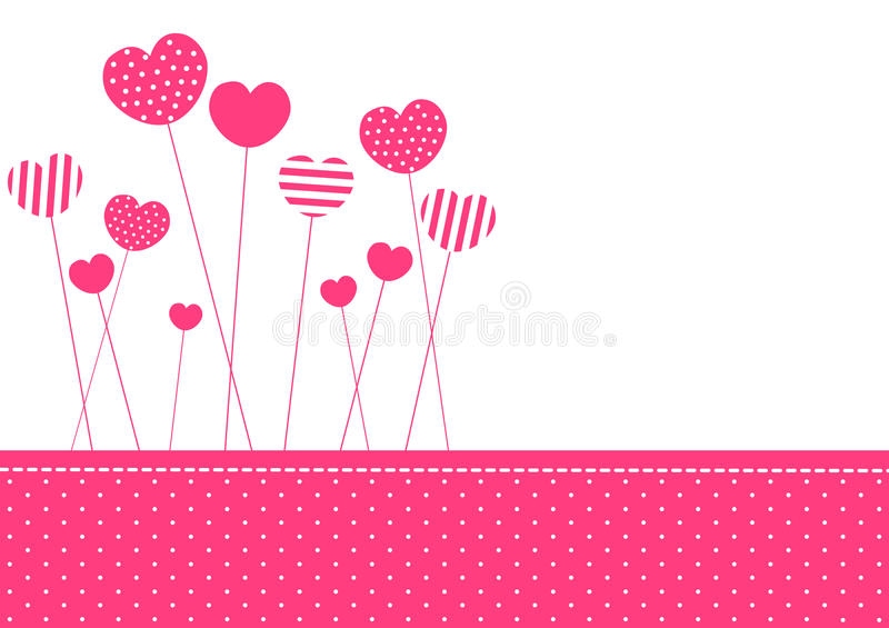 Cartão modelado cor-de-rosa do convite dos corações