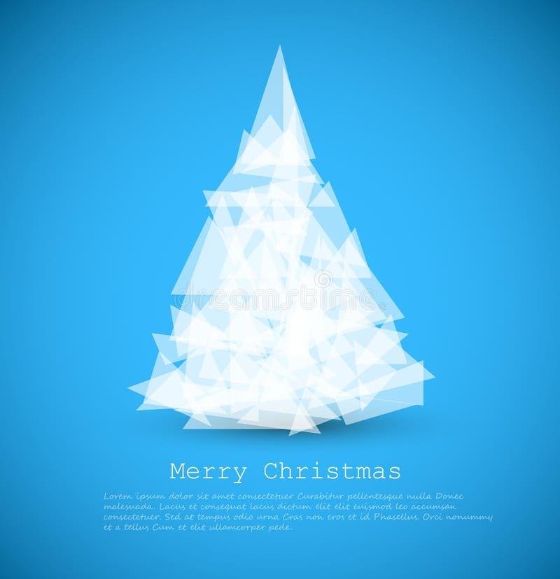 Cartão moderno com a árvore de Natal abstrata ilustração royalty free