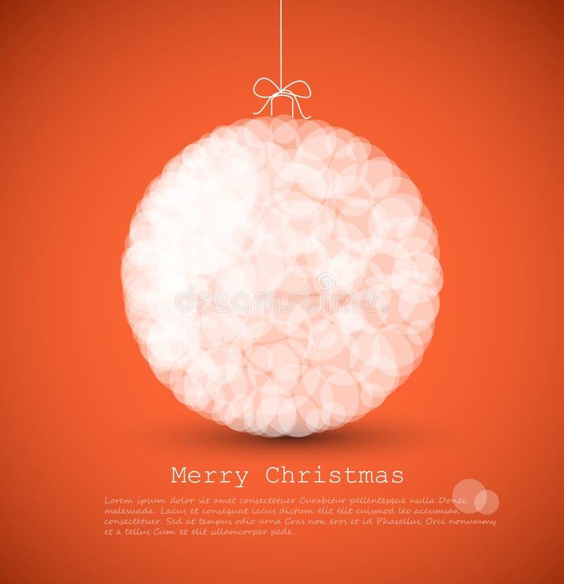 cartão moderno com decoração do Natal ilustração stock