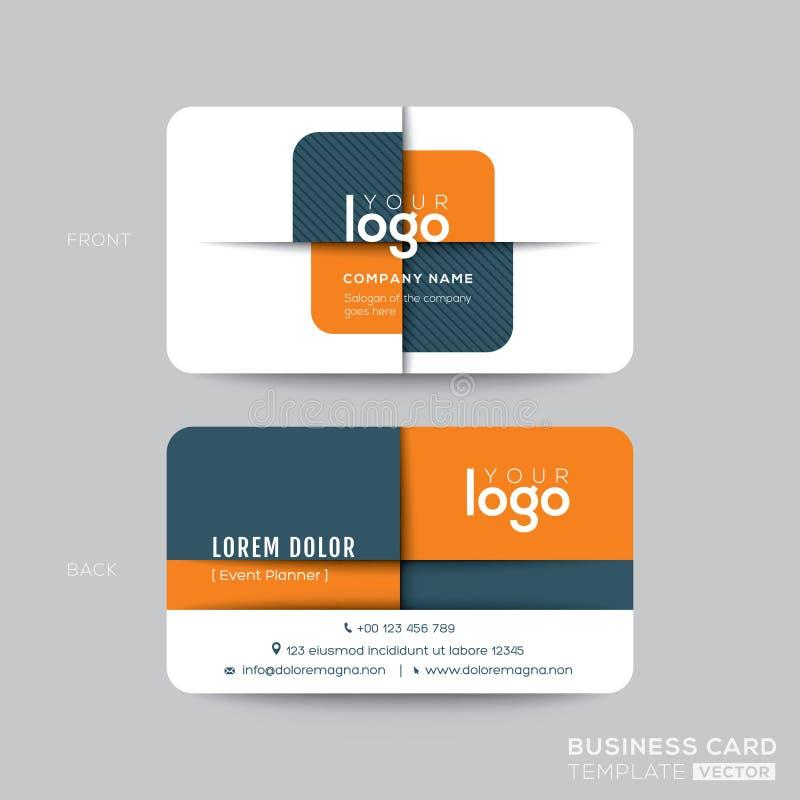 Cartão moderno com forma transversal alaranjada e cinzenta ilustração stock