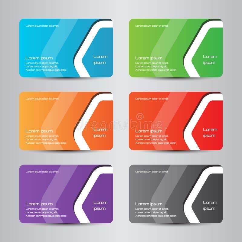 Cartão moderno da cor completa do cartão imagens de stock