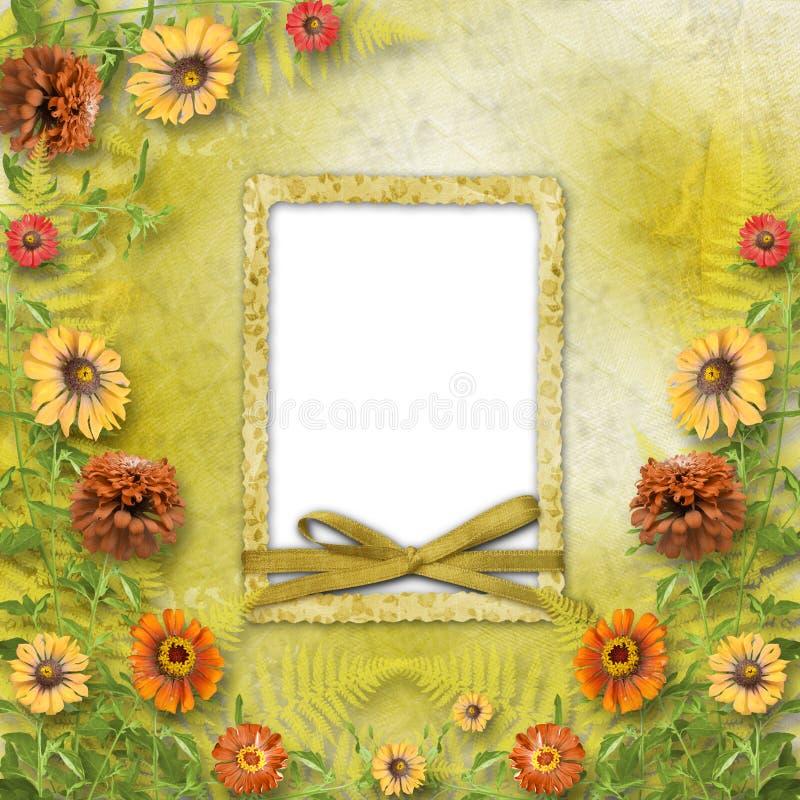 Cartão Multicoloured para o cumprimento fotografia de stock royalty free