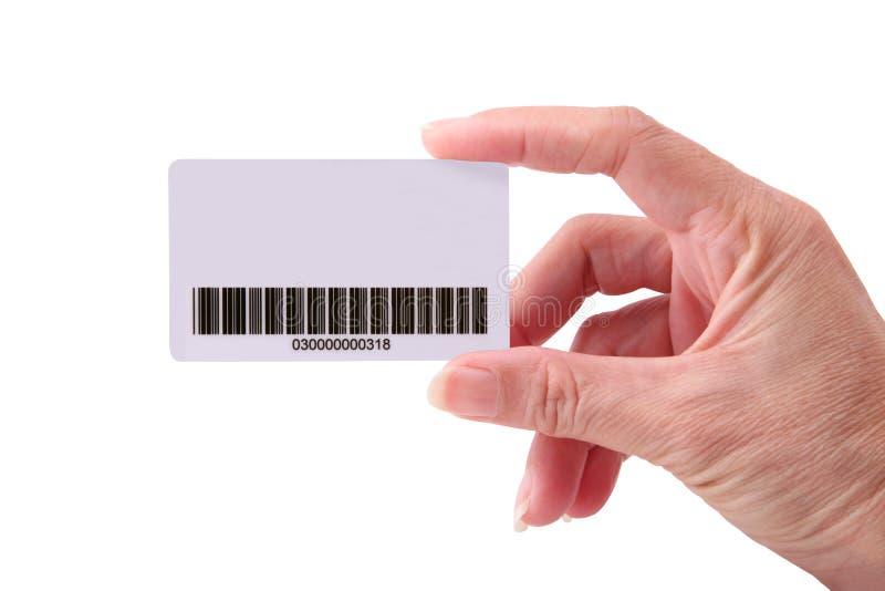 Download Cartão na mão imagem de stock. Imagem de papel, barra - 12801041