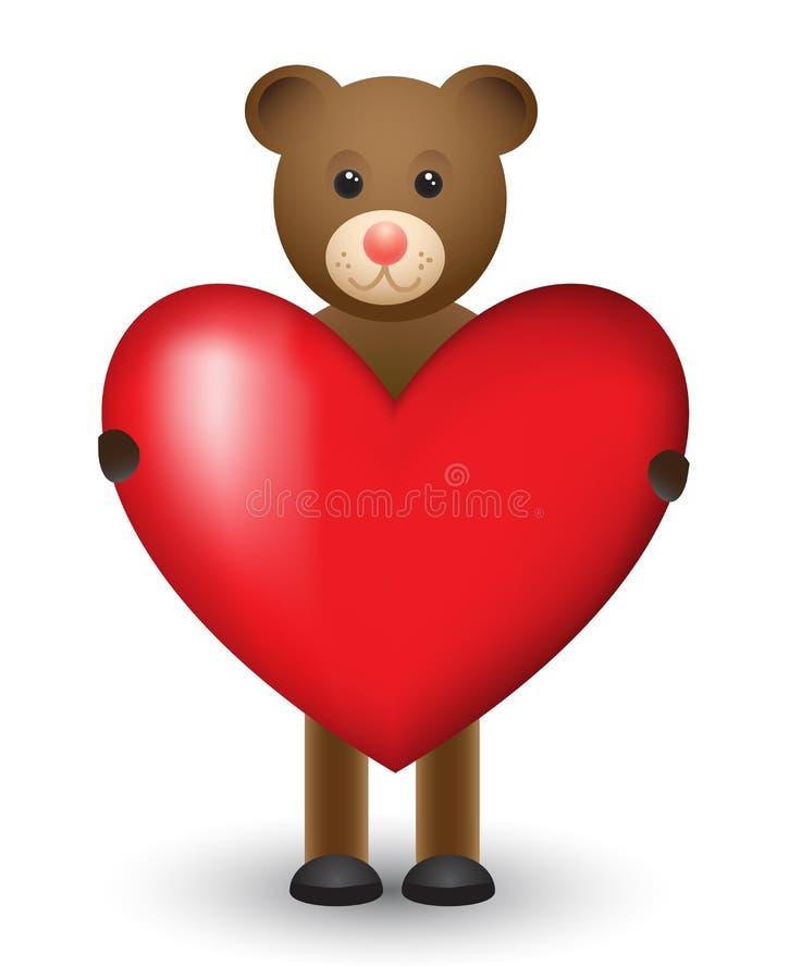 Cartão no dia do amor ilustração do vetor