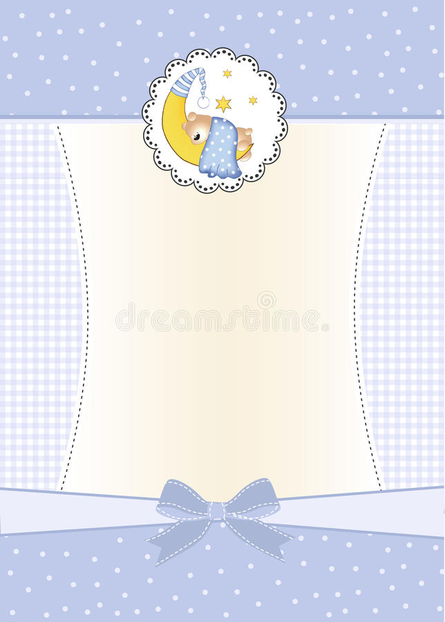 Cartão novo do anúncio do bebé ilustração do vetor
