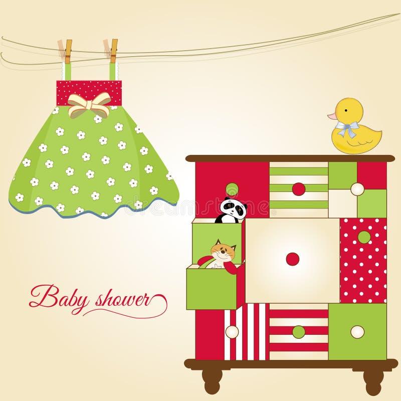 Cartão novo do bebê ilustração do vetor