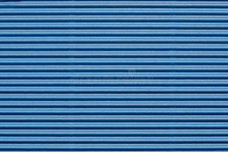 Cartão ondulado azul colorido Textured imagem de stock