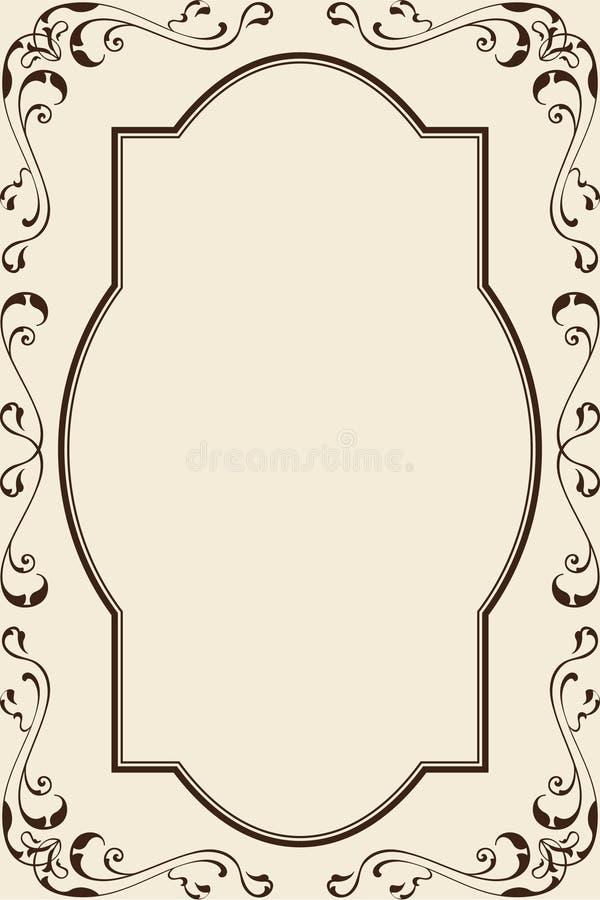 Cartão ornamentado ilustração do vetor