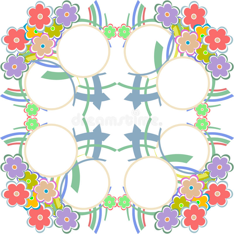 Cartão ou convite com fundo floral abstrato ilustração do vetor