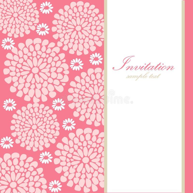 Cartão ou convite de aniversário do casamento com sumário  ilustração royalty free