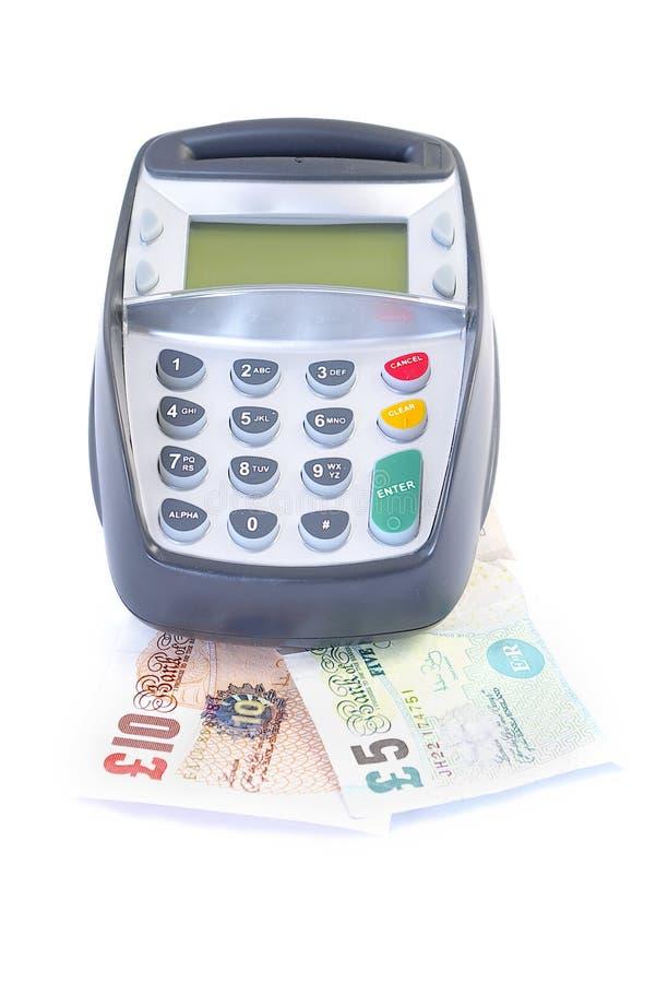 Cartão ou dinheiro fotografia de stock