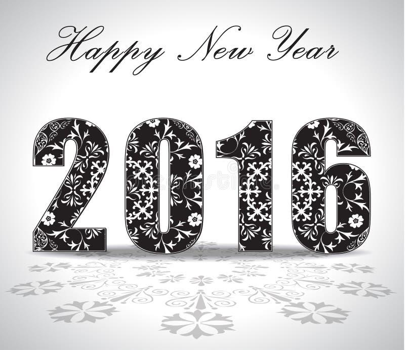Cartão ou fundo do ano 2016 novo feliz ilustração do vetor