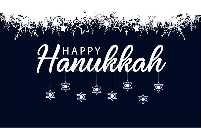 Cartão ou fundo do Hanukkah ilustração stock