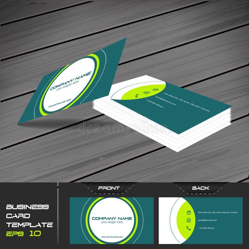 Cartão ou molde do cartão de visita ilustração do vetor