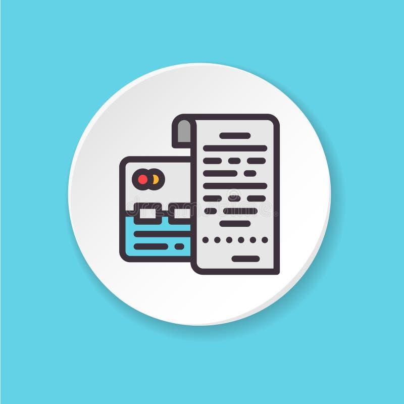 Cartão pagado antecipadamente do vetor ícone liso Interface de utilizador de UI/UX ilustração stock