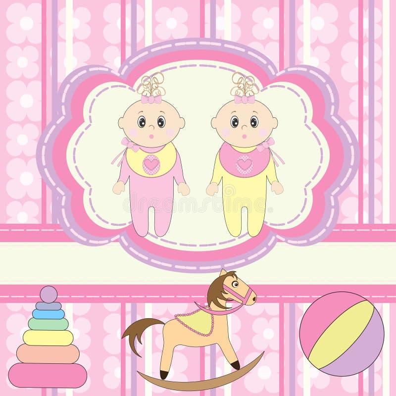 Cartão para bebês ilustração royalty free