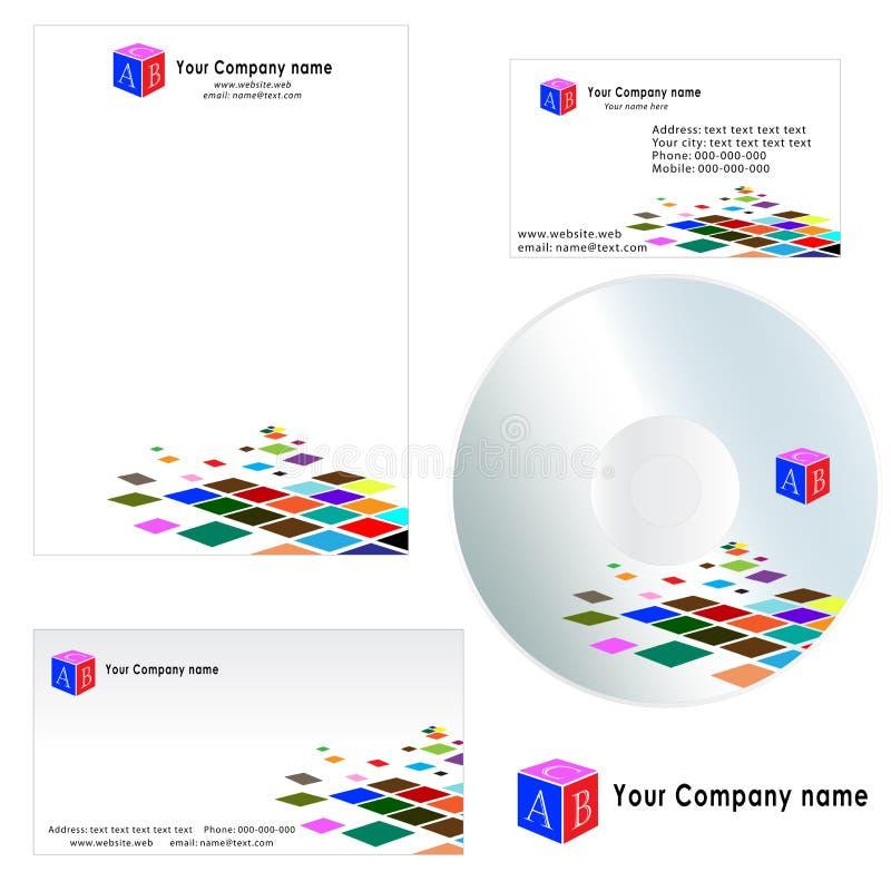 Cartão para a companhia - molde do cabeçalho ilustração stock