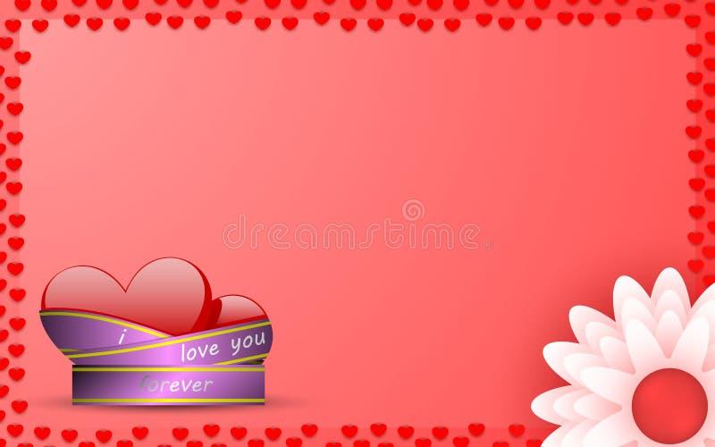 Cartão para a declaração do amor foto de stock royalty free