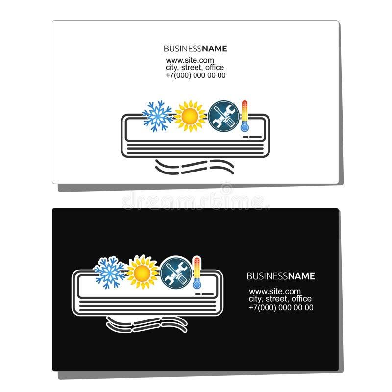 Cartão para a manutenção do condicionamento de ar ilustração do vetor