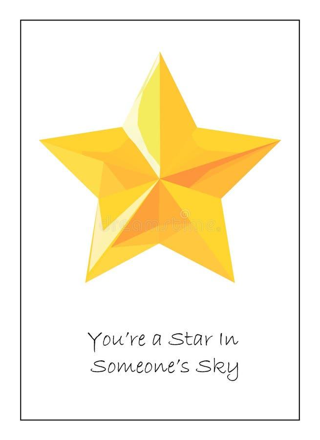Cartão para o amigo ou o colega 10x15 cm ilustração royalty free