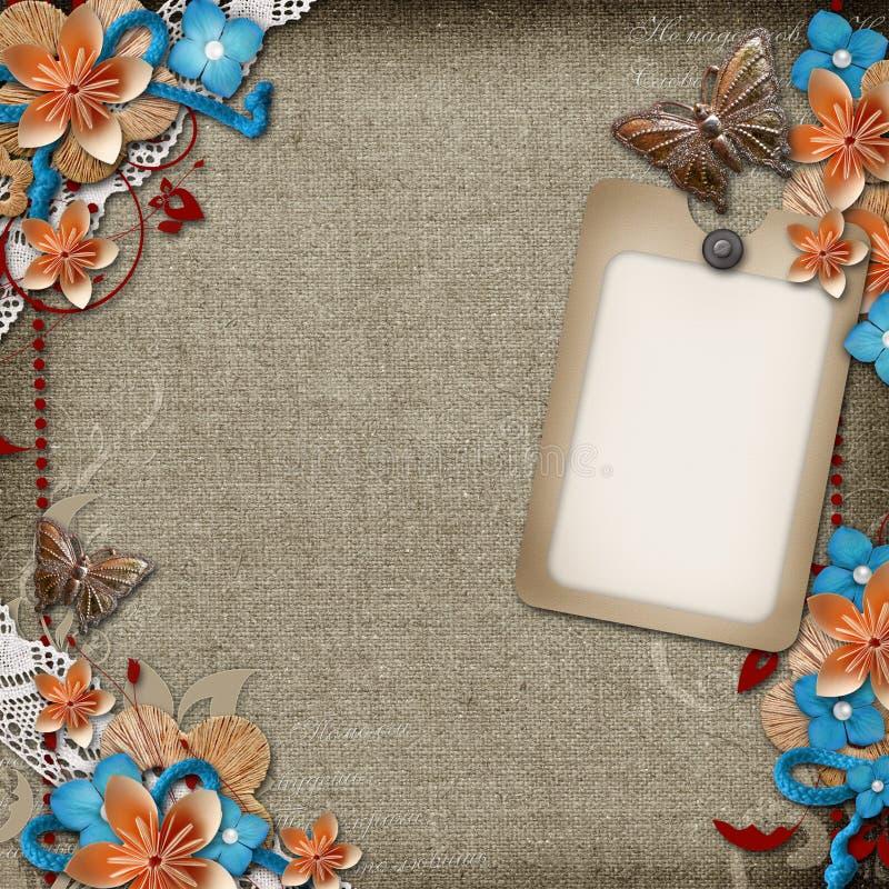 Download Cartão Para O Convite Ou As Felicitações No Fundo Do Vintage Ilustração Stock - Ilustração de borboleta, paperboard: 29841797