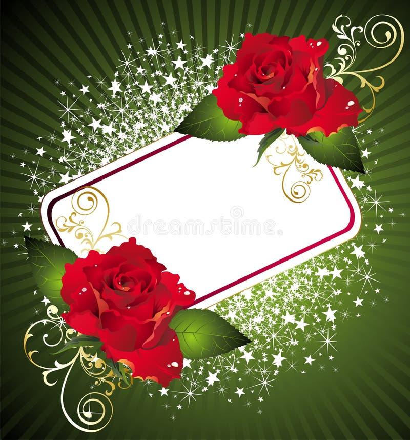 Cartão para o dia do Valentim ilustração do vetor