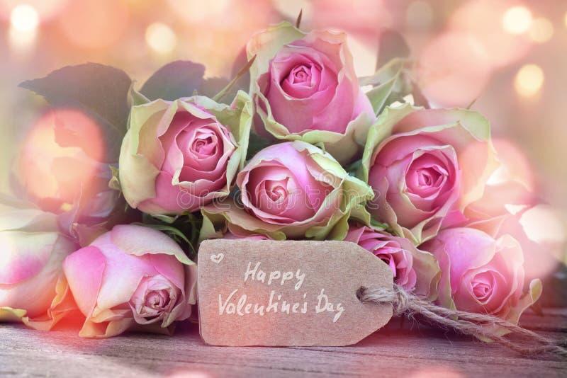 Cartão para o dia dos Valentim imagens de stock royalty free