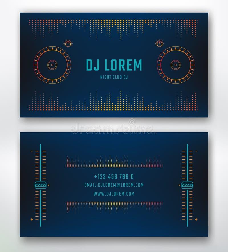 Cartão para o DJ ilustração royalty free