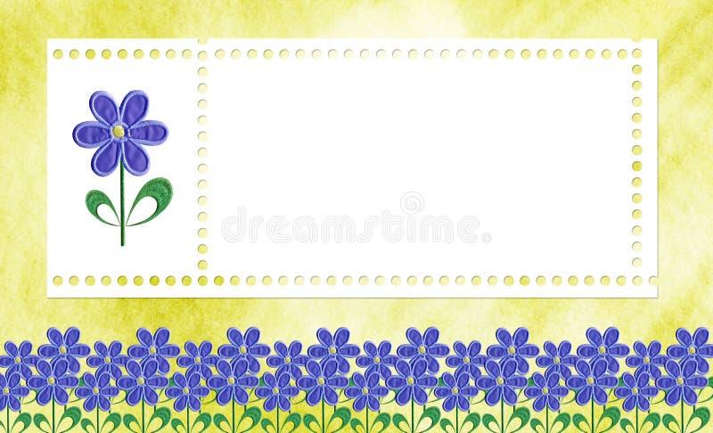 Cartão para uma foto ou um convite fotografia de stock