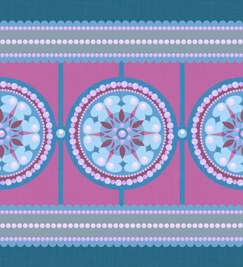 Cartão pastel da pérola com o ornamento do sumário do círculo ilustração royalty free