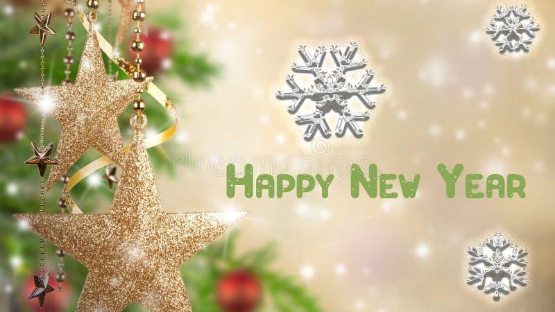Cartão por o ano novo imagem de stock royalty free